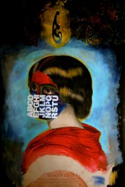 révangeline 1 francois gaudet 4'X5' digital pigment and acrylic paint on canvas 2007.
